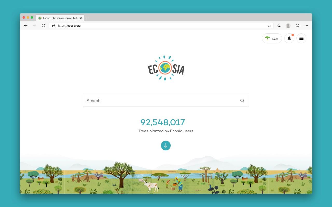 Ecosia讓你網路搜尋也可以種樹做公益 4