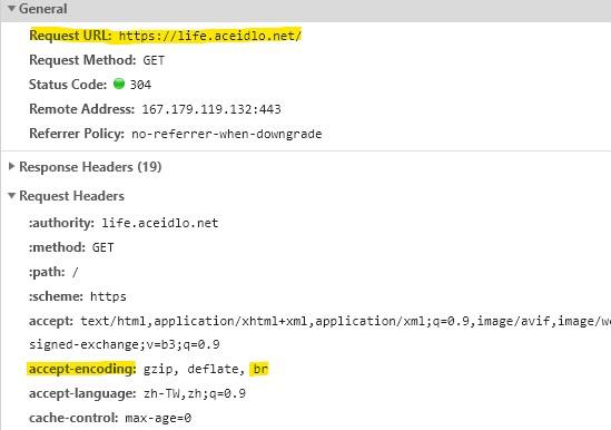 開啟 Brotli模組 壓縮率更高讓網頁傳輸更快速 6
