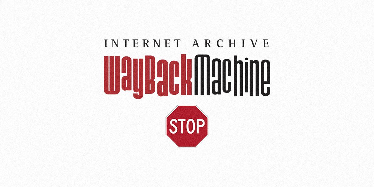 阻擋 Wayback Machine的方式 4